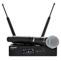 WIRELESS HANDHELD SYSTEM SHURE QLXD24 BETA 58 BAND-G50