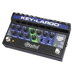 Keyboard mixer, 3 stereo inputs, effects bus, USB, balanced XLR outs Radial Engineering Key-Largo