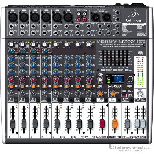 Behringer X1222USB 12-Channel USB Mixer with Effects