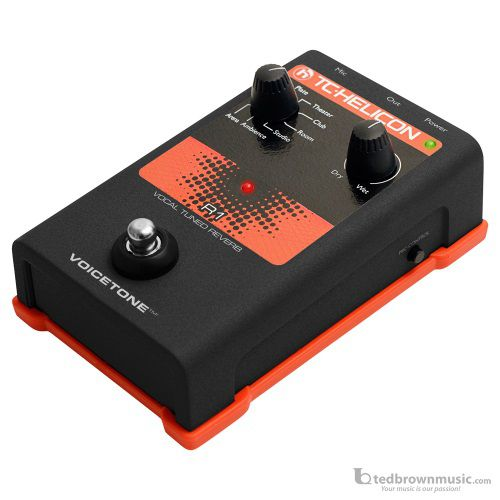 TC Electronics R1 VoiceTone Vocal Tuned Reverb Effect Pedal